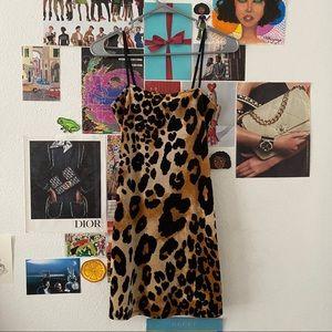 cheetah print mini dress